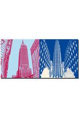 ART-DOMINO® BY SABINE WELZ New York - Chrysler Building and Rockefeller Center