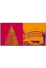 ART-DOMINO® BY SABINE WELZ New York - Chrysler Building and Guggenheim Museum