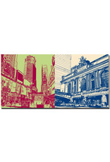 ART-DOMINO® BY SABINE WELZ New York - Time Square and Grand Central Station