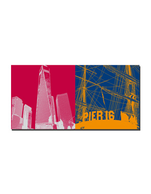 ART-DOMINO® BY SABINE WELZ New York - One WTC and Pier 16