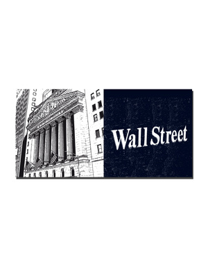 ART-DOMINO® BY SABINE WELZ New York - Wall Street - NYSE and Wall Street sign