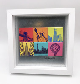 ART-DOMINO® BY SABINE WELZ MAGNETIC PICTURE - New York - MOTIF MIX 6-01