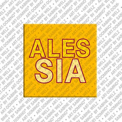 ART-DOMINO® BY SABINE WELZ ALESSIA - Magnet mit dem Vornamen ALESSIA