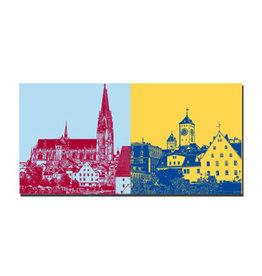 ART-DOMINO® BY SABINE WELZ Picture on canvas - Regensburg - 7501