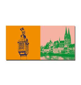 ART-DOMINO® BY SABINE WELZ Picture on canvas - Regensburg - 7502