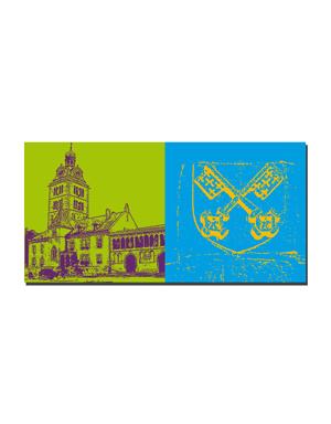 ART-DOMINO® BY SABINE WELZ Regensburg - St. Emmeran + Stadtwappen
