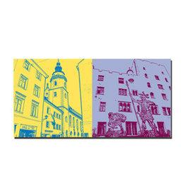 ART-DOMINO® BY SABINE WELZ Picture on canvas - Regensburg - 7505