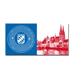 ART-DOMINO® BY SABINE WELZ Picture on canvas - Regensburg - 7506