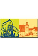 ART-DOMINO® BY SABINE WELZ Regensburg - Porta Praetoria + Brückenturm und Salzstadl
