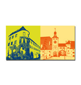 ART-DOMINO® BY SABINE WELZ Picture on canvas - Regensburg - 7508