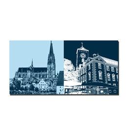 ART-DOMINO® BY SABINE WELZ Picture on canvas - Regensburg - 7509