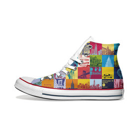 ART-DOMINO® BY SABINE WELZ Chucks - Mit New York-Motiven