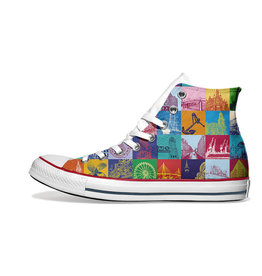 ART-DOMINO® BY SABINE WELZ Chucks - Mit Hamburg-Motiven