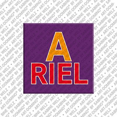 ART-DOMINO® BY SABINE WELZ ARIEL - Magnet mit dem Vornamen ARIEL
