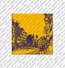 ART-DOMINO® BY SABINE WELZ Magnet - Kitzbühel - 01