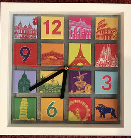 ART-DOMINO® BY SABINE WELZ MAGNETIC CLOCK - MIX - 16-01
