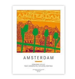 ART-DOMINO® BY SABINE WELZ POSTER - AMSTERDAM