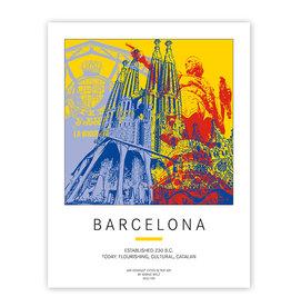 ART-DOMINO® BY SABINE WELZ AFFICHE - BARCELONA