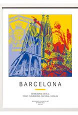 ART-DOMINO® BY SABINE WELZ Poster - Barcelona