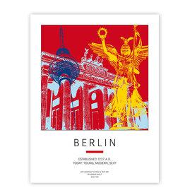 ART-DOMINO® BY SABINE WELZ AFFICHE - BERLIN