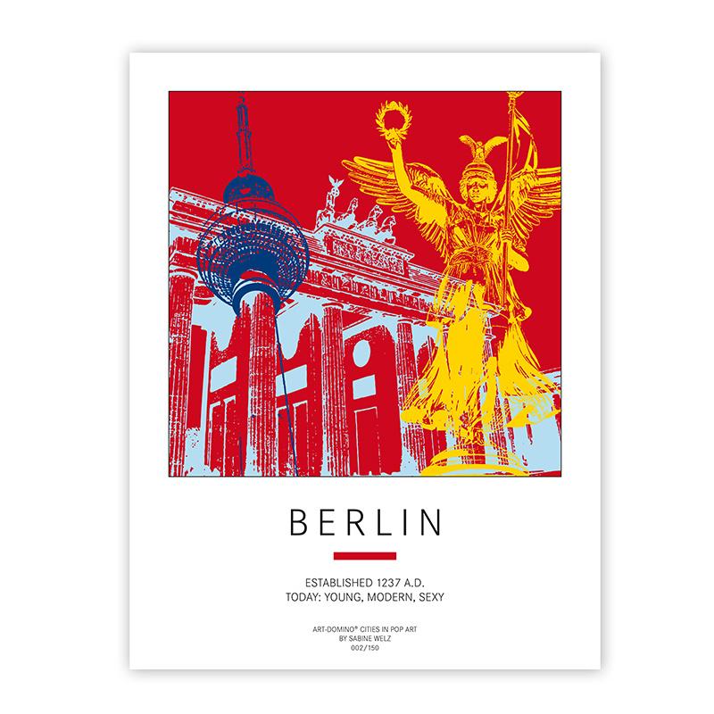 ART-DOMINO® BY SABINE WELZ Poster - Berlin