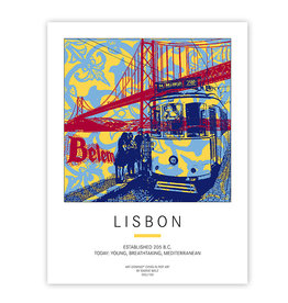 ART-DOMINO® BY SABINE WELZ POSTER - LISBON