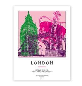ART-DOMINO® BY SABINE WELZ PLAKAT - LONDON