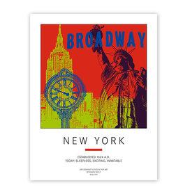 ART-DOMINO® BY SABINE WELZ PLAKAT - NEW YORK