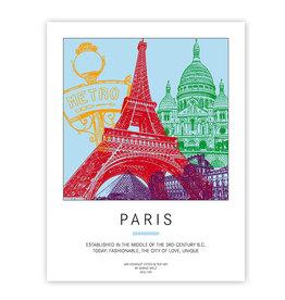 ART-DOMINO® BY SABINE WELZ PLAKAT - PARIS