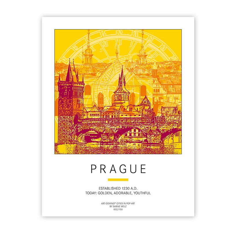 ART-DOMINO® BY SABINE WELZ Poster - Prague