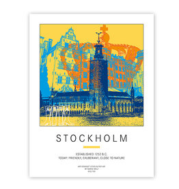 ART-DOMINO® BY SABINE WELZ POSTER - STOCKHOLM