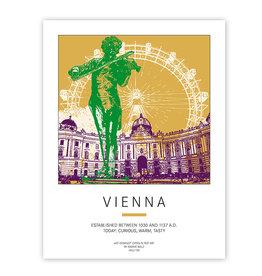 ART-DOMINO® BY SABINE WELZ POSTER - VIENNA