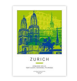 ART-DOMINO® BY SABINE WELZ POSTER - ZURICH