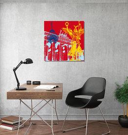 ART-DOMINO® BY SABINE WELZ Leinwandbild - Stadt-Collage-Berlin
