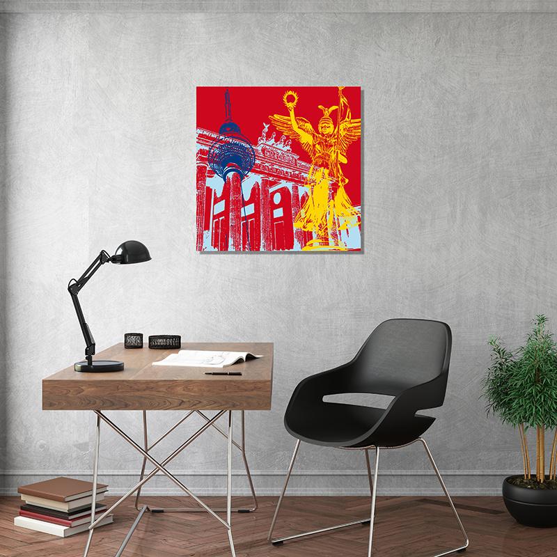 ART-DOMINO® BY SABINE WELZ Berlin - Stadt-Collage