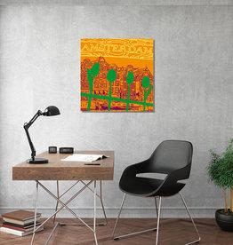 ART-DOMINO® BY SABINE WELZ Leinwandbild - Stadt-Collage-Amsterdam