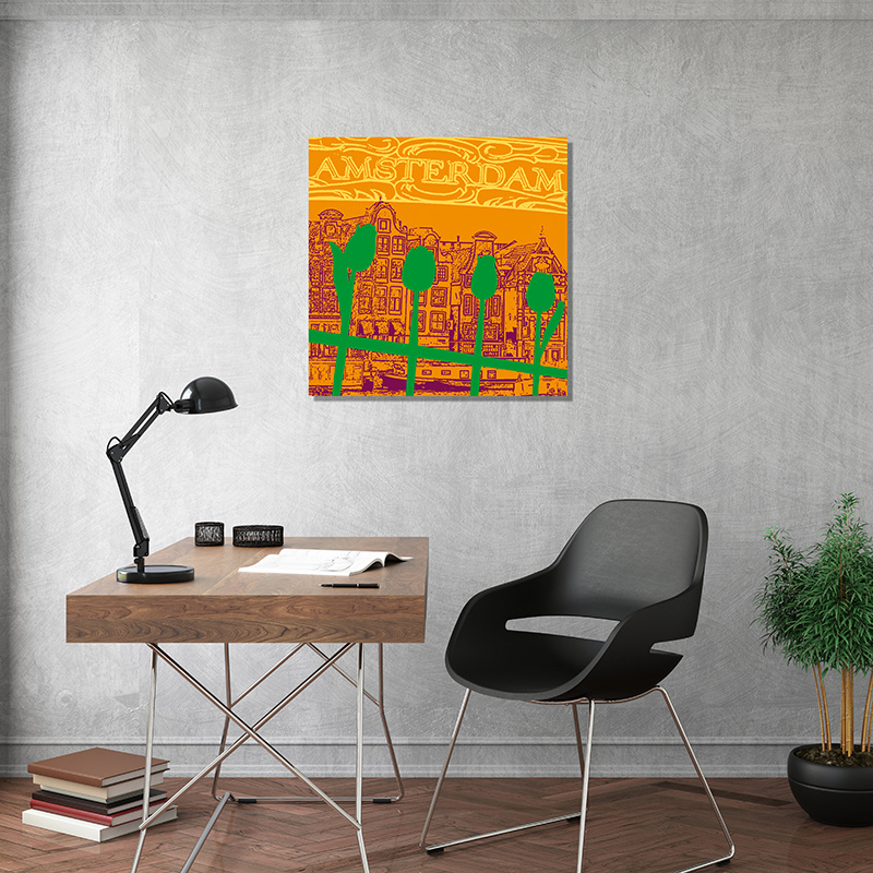 ART-DOMINO® BY SABINE WELZ Amsterdam - Stadt-Collage