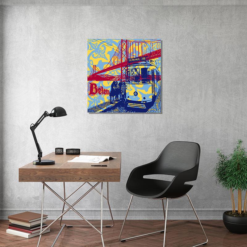 ART-DOMINO® BY SABINE WELZ Lissabon - Stadt-Collage