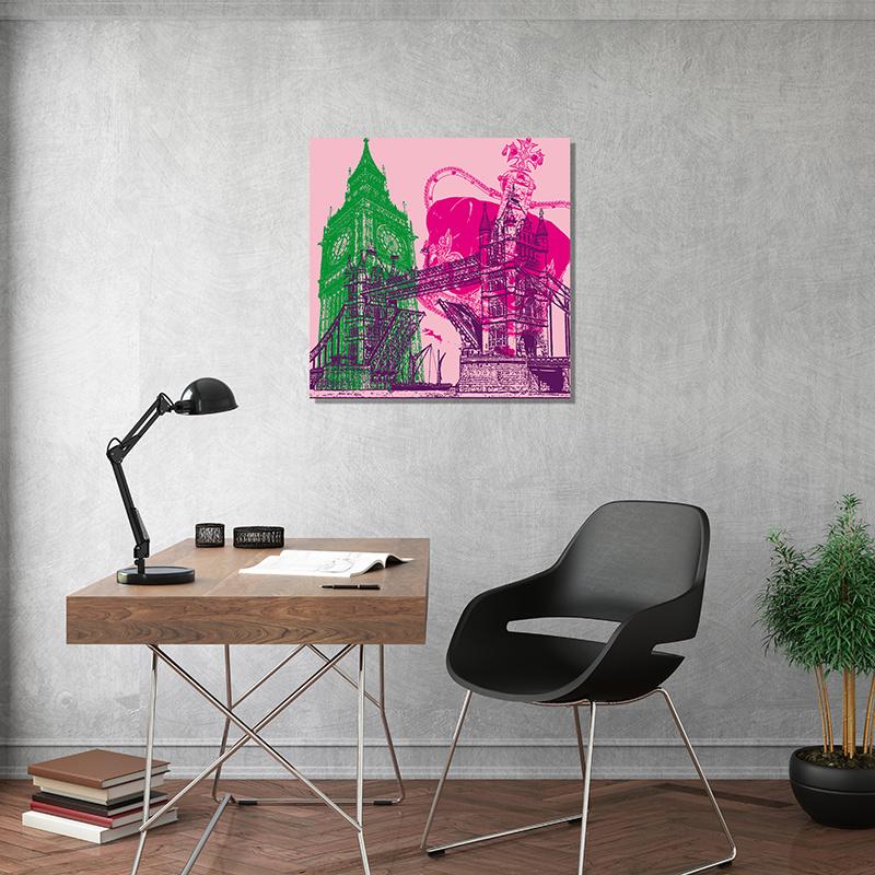 ART-DOMINO® BY SABINE WELZ London - Stadt-Collage