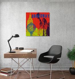 ART-DOMINO® BY SABINE WELZ Leinwandbild - Stadt-Collage-New York