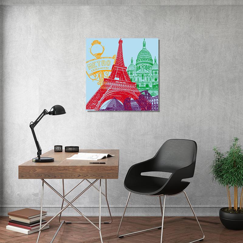 ART-DOMINO® BY SABINE WELZ Paris - Stadt-Collage