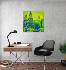 ART-DOMINO® BY SABINE WELZ Leinwandbild - Stadt-Collage-Zürich