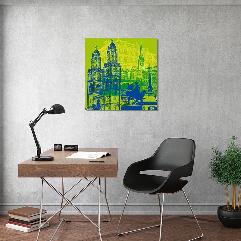 ART-DOMINO® BY SABINE WELZ Zürich - Stadt-Collage