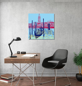 ART-DOMINO® BY SABINE WELZ Leinwandbild - Stadt-Collage-Venedig