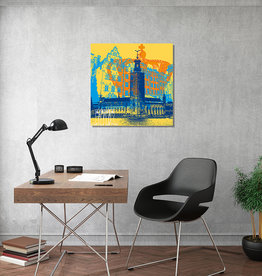 ART-DOMINO® BY SABINE WELZ Art sur toile - City-Collage-Stockholm