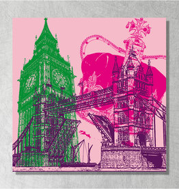 ART-DOMINO® BY SABINE WELZ Art sur toile - City-Collage-London