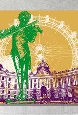 ART-DOMINO® BY SABINE WELZ Vienna - City-Collage