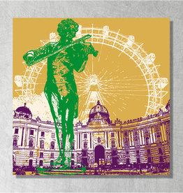 ART-DOMINO® BY SABINE WELZ Leinwandbild - Stadt-Collage-Wien