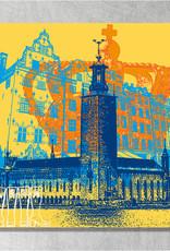 ART-DOMINO® BY SABINE WELZ Stockholm - Stadt-Collage