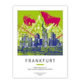 ART-DOMINO® BY SABINE WELZ POSTER - FRANKFURT